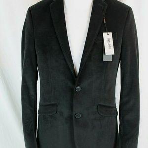 Kenneth Cole Velvet Evening Jacket Black Blazer
